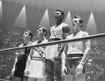Cassius Clay won gold at the 1960 Summer Olympics in Rome.