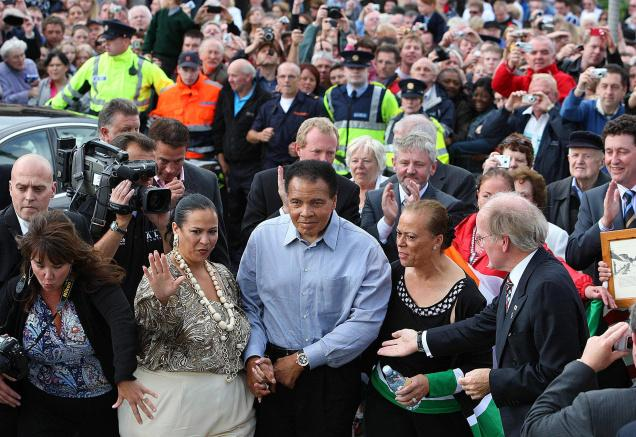 Ali visits home of Irish roots