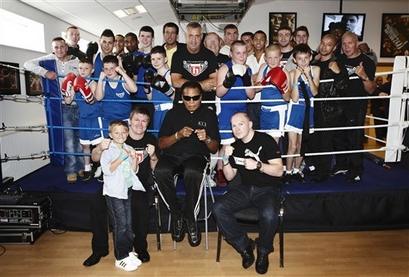 Muhammad Ali visited Ricky Hatton's new gym in Manchester