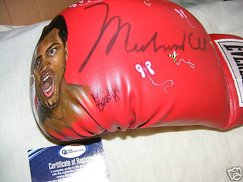 Muhammad Ali Signed Painted Boxing Glove