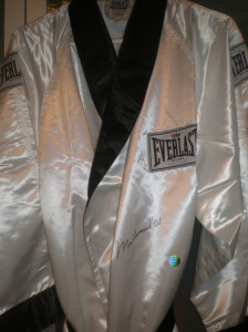 Muhammad Ali Autograph Robe at www.substancecollectables.com